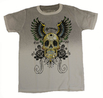 Shiroi Neko - Winged Skull T-Shirt