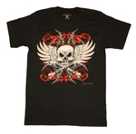 "Doc Black - Paul Fleming ""Winged Skull"" T-Shirt"
